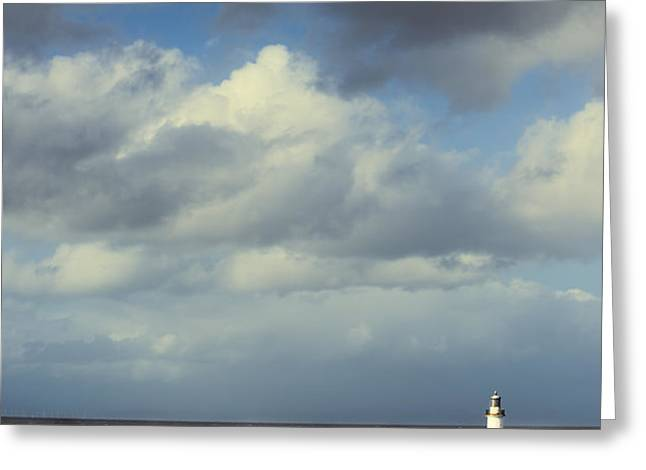 Lighthouse At Whitehaven Greeting Card by Amanda And Christopher Elwell