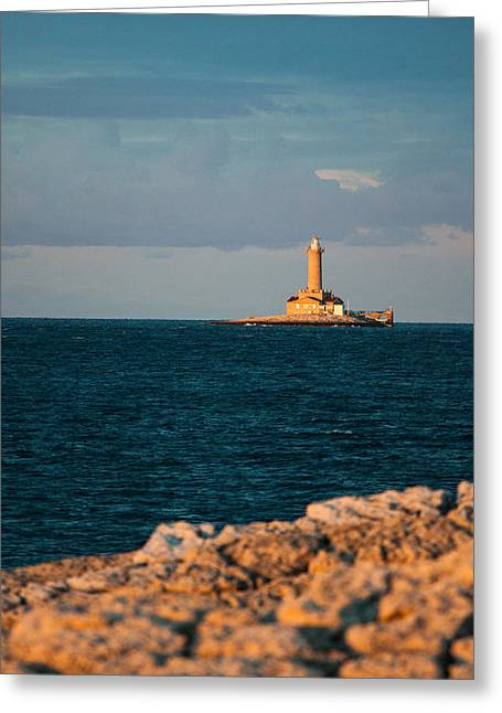 Lighthouse Greeting Card by Davorin Mance