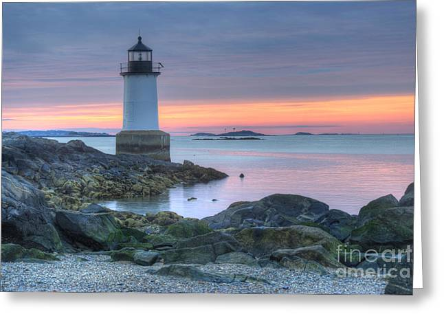 Lighthouse Greeting Card by Juli Scalzi