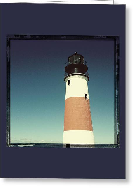 Nantucket Sound Greeting Cards - Lighthouse Greeting Card by Natasha Marco