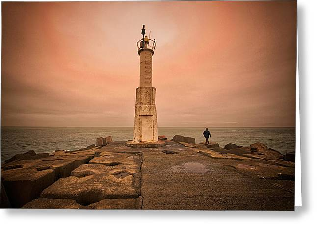 Lighthouse Greeting Card by Okan YILMAZ