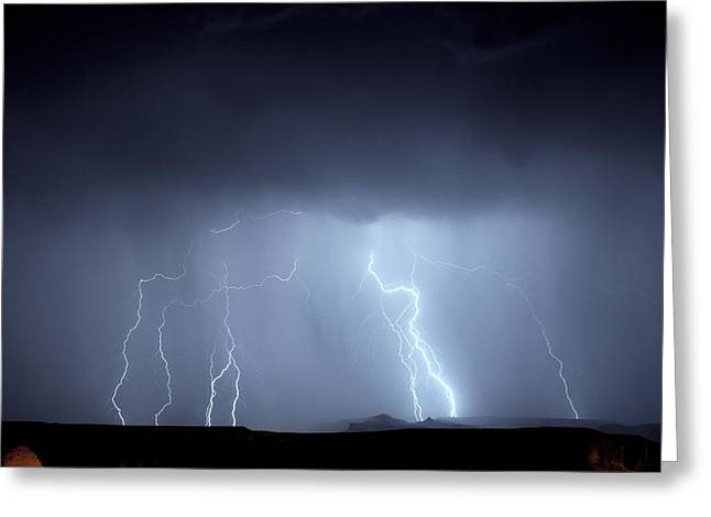 Arizona Lightning Greeting Cards - Lightning storm Greeting Card by Science Photo Library