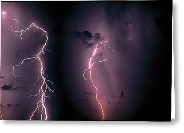 Flash Greeting Cards - Lightning, Thunderstorm, Weather, Sky Greeting Card by Panoramic Images