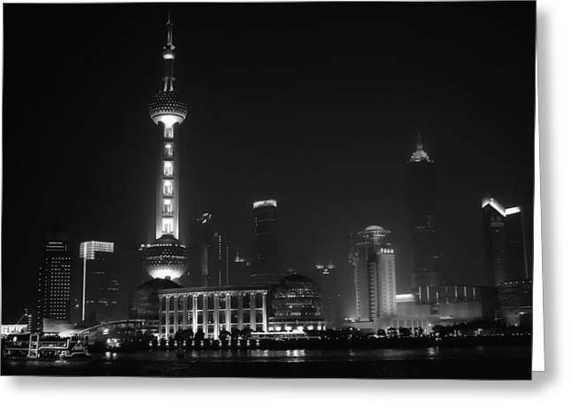 Shanghai China Greeting Cards - Lights of Shanghai Greeting Card by Mountain Dreams