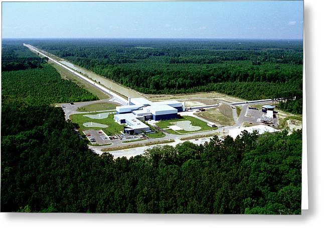 Ligo Gravitational Wave Detector Greeting Card by Caltech/mit/ligo Lab