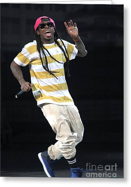 Lil Wayne Sunglasses Greeting Cards - Lil Wayne Greeting Card by Front Row  Photographs