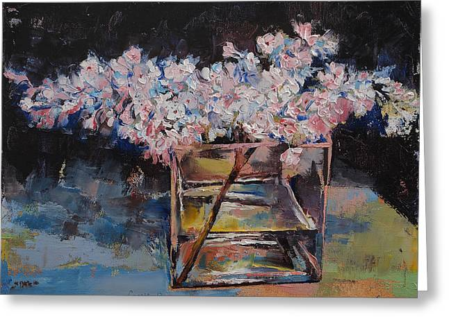 Flores Greeting Cards - Lilacs Greeting Card by Michael Creese
