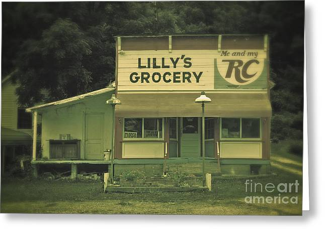 Grocery Store Greeting Cards - Lillys Grocery Greeting Card by Brian Mollenkopf