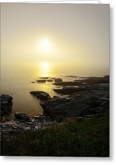 New England Landscape Greeting Cards - Limelight Of Beyond Greeting Card by Lourry Legarde