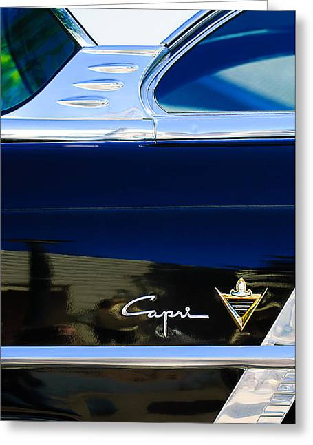 Lincoln Photographs Greeting Cards - Lincoln Capri Emblem Greeting Card by Jill Reger