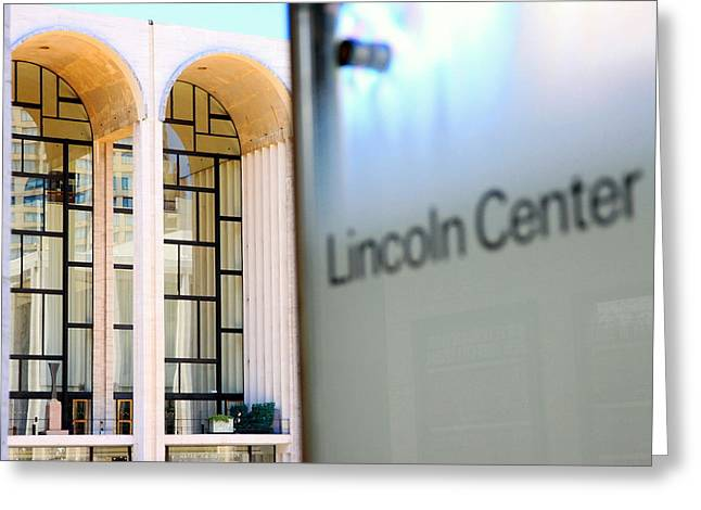 Lincoln Center Greeting Cards - Lincoln Center Greeting Card by Valentino Visentini