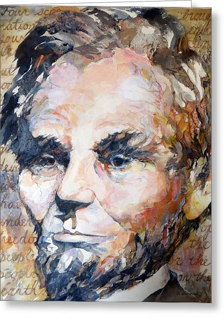 Four Score Greeting Cards - Lincoln Legacy  Greeting Card by Beverly Berwick