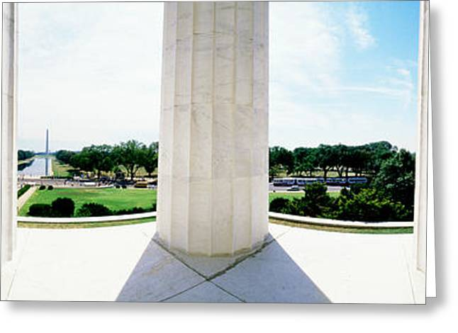 Reverence Greeting Cards - Lincoln Memorial Washington Dc Usa Greeting Card by Panoramic Images