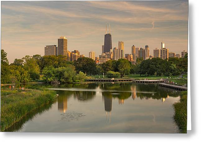 Lincoln Photographs Greeting Cards - Lincoln Park Lagoon Chicago Greeting Card by Steve Gadomski