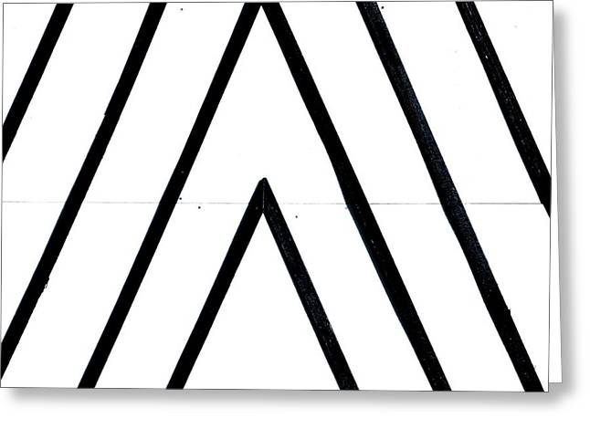 Geometric Style Greeting Cards - Lines Greeting Card by A Rey