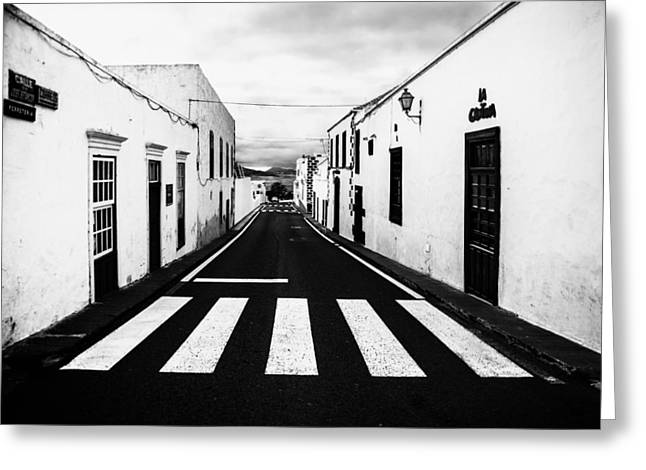 Lines Of Lanzarote Greeting Card by Mountain Dreams