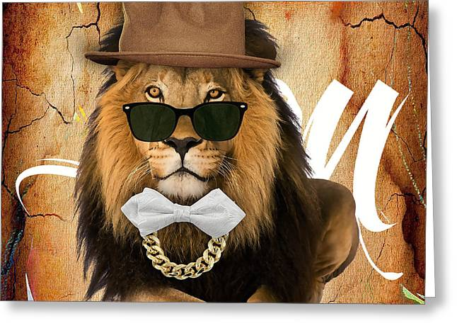 Cats Greeting Cards - Lion Collection Greeting Card by Marvin Blaine