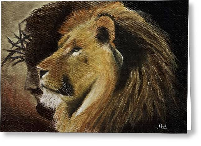Jesus Pastels Greeting Cards - Lion of Judah Greeting Card by Dale Bradley