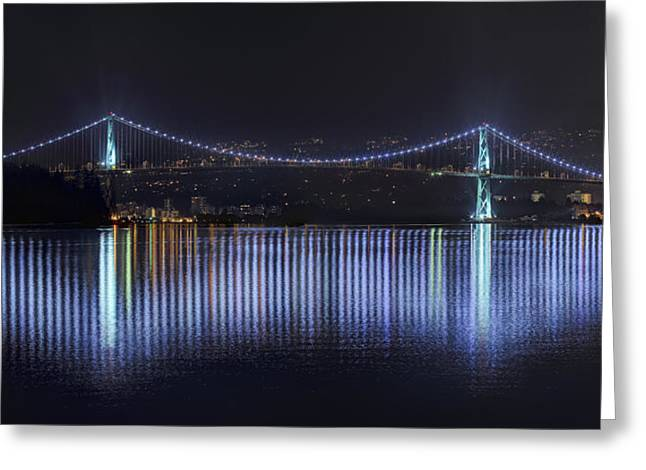 Lions Gate Bridge Greeting Card by Colin McMillan