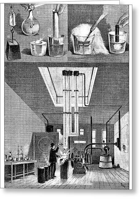 Liquid Air Experiments Greeting Card by Science Photo Library