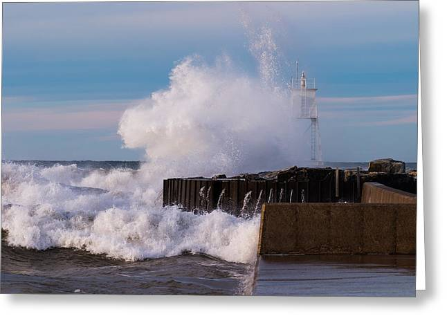 Habor Greeting Cards - Liquid Thunder Greeting Card by James Marvin Phelps