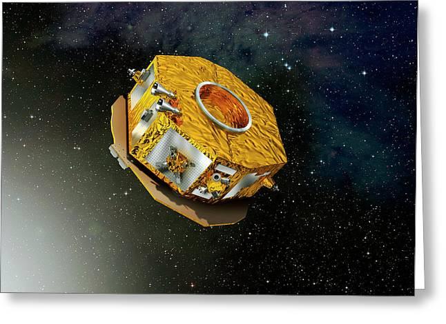 Lisa Pathfinder Space Probe Greeting Card by Esa-d. Ducros, 2010