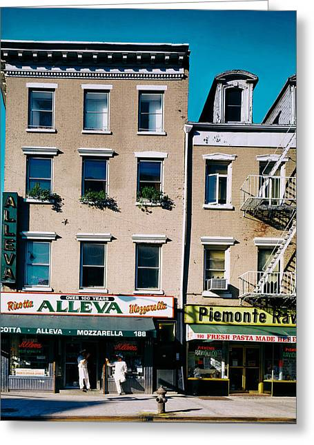 Italian Restaurant Greeting Cards - Little Italy in New York City Greeting Card by Mountain Dreams