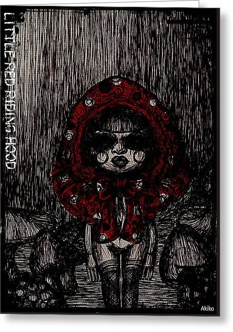 Equality Drawings Greeting Cards - Little Red Riding Hood Greeting Card by Akiko Kobayashi