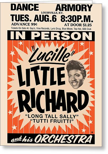 Decorative Greeting Cards - Little Richard Greeting Card by Gary Grayson