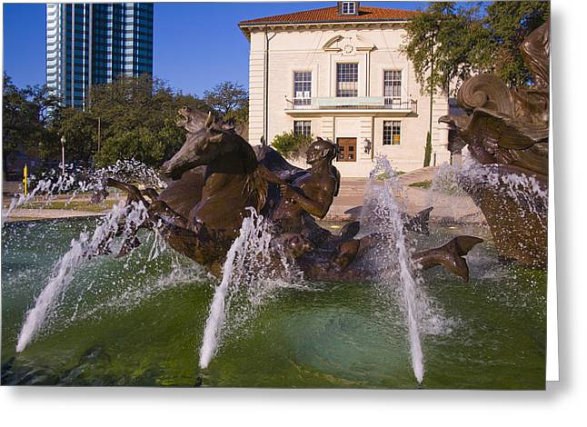 Littlefield Fountain Greeting Card by Mark Weaver