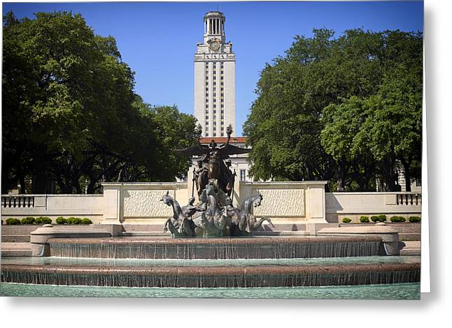 Austin Landmarks Greeting Cards - Littlefield Fountain - University of Texas Greeting Card by Mountain Dreams