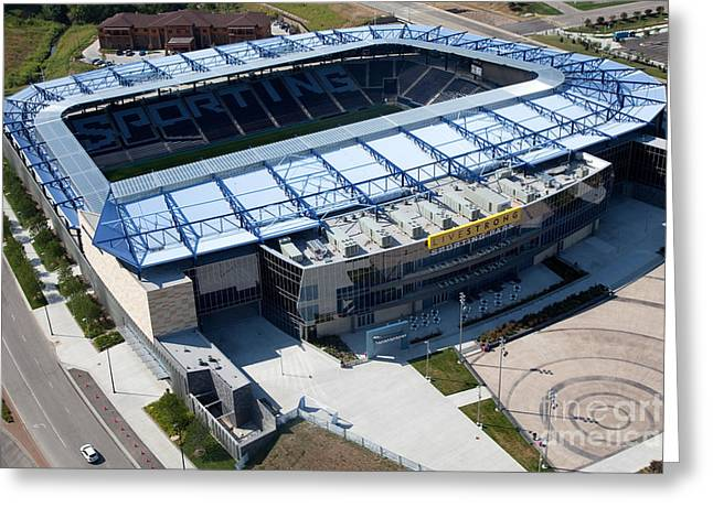 Livestrong Greeting Cards - Livestrong Sporting Park Kansas City Greeting Card by Bill Cobb