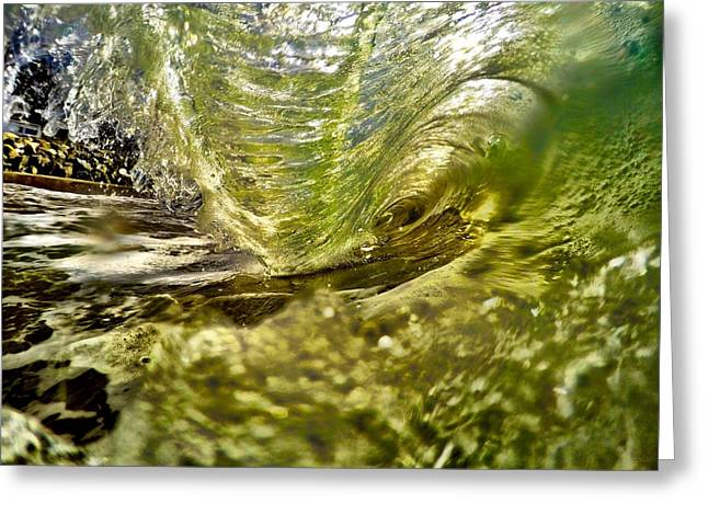 Rincon Beach Greeting Cards - Living In The Wave Greeting Card by Richard Tachin