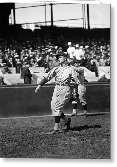 Center Field Greeting Cards - Lloyd J. Waner Greeting Card by Retro Images Archive