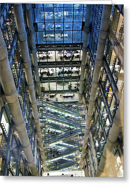 Lloyds Of London Interior Greeting Card by Mark Williamson