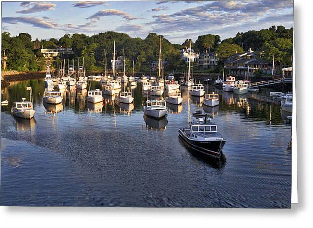 Cape Neddick Greeting Cards - Lobster Boats - Perkins Cove - Maine Greeting Card by Steven Ralser