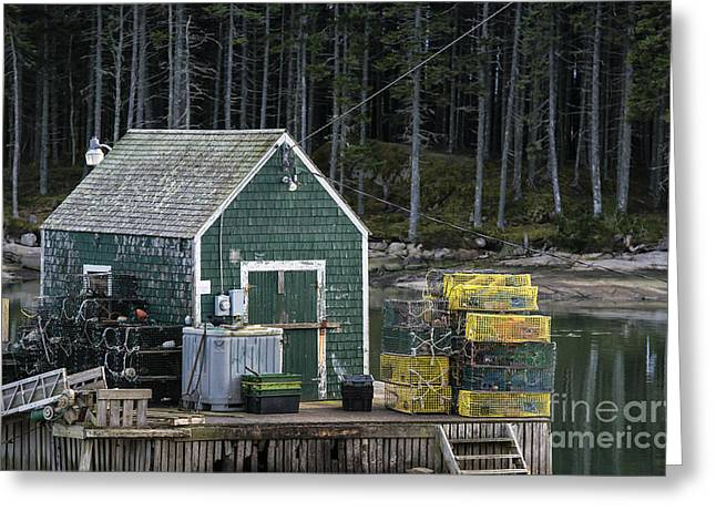 Coastal Maine Greeting Cards - Lobster  Shack Greeting Card by John Greim