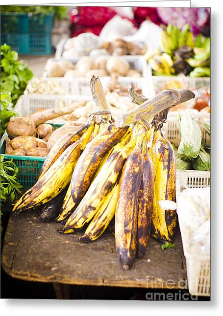 Local Food Greeting Cards - Local Asian Market Greeting Card by Tuimages