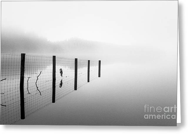 Old Boat Greeting Cards - Loch ard early mist Greeting Card by John Farnan