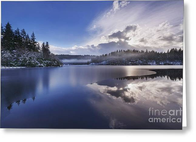 Snow Scenes Greeting Cards - Loch Ard Greeting Card by Rod McLean
