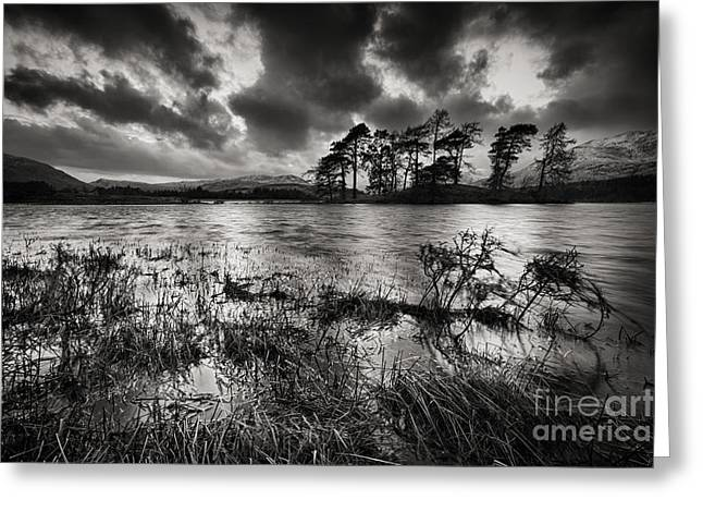 Mountains And Lake Greeting Cards - Loch Tulla Greeting Card by Rod McLean