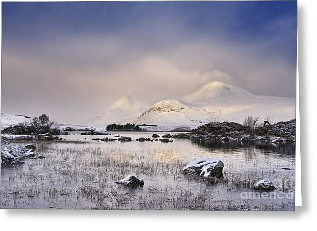 Lochan Greeting Cards - Lochan na h-Achlaise Greeting Card by Rod McLean