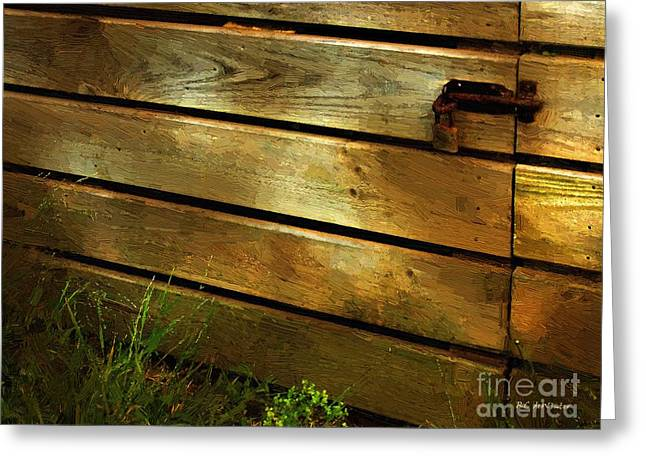 Shed Digital Art Greeting Cards - Locked Away Greeting Card by RC deWinter
