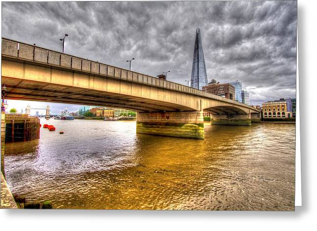 Chelsea Greeting Cards - London Bridge Shard HDR Greeting Card by David French