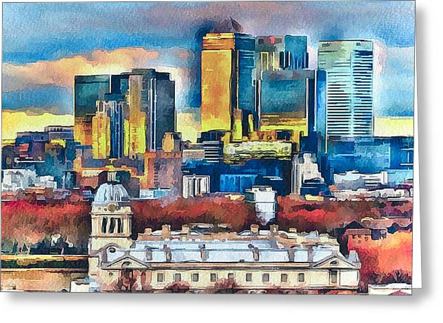 Old Town Digital Greeting Cards - London City Greeting Card by Yury Malkov