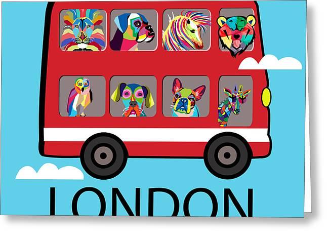 Super Stars Greeting Cards - London  Greeting Card by Mark Ashkenazi