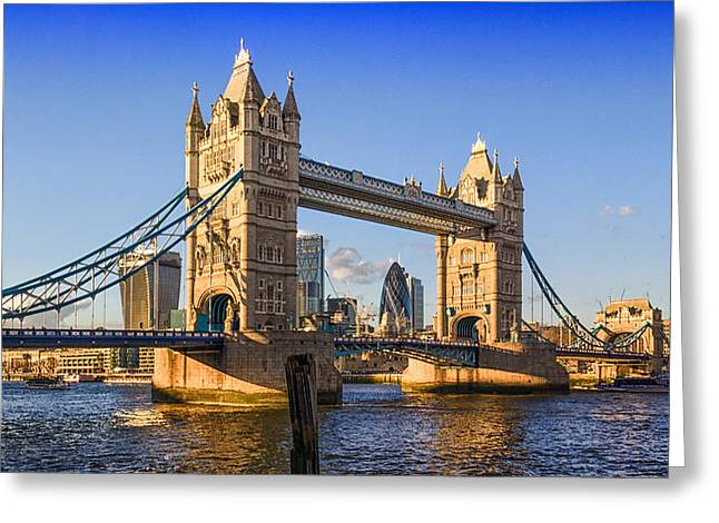 Famous Bridge Greeting Cards - London Tower bridge Greeting Card by Ian Hufton