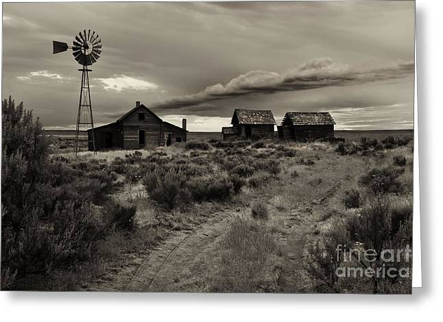 Ranch Photographs Greeting Cards - Lonely House on the Prairie Greeting Card by Mike  Dawson