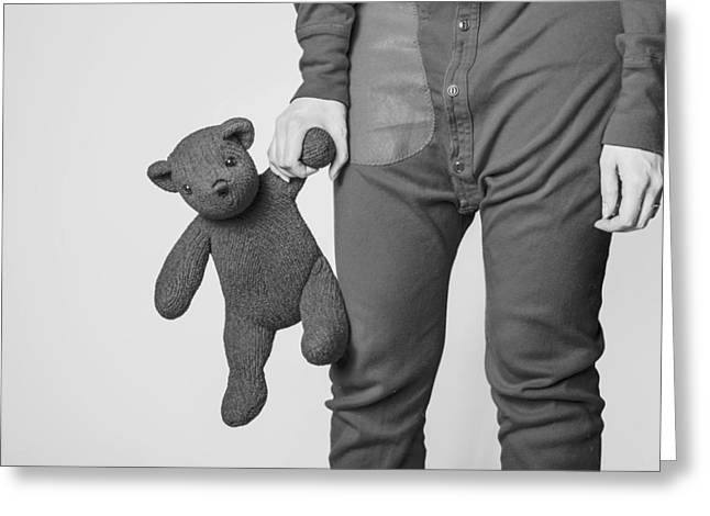 Pajamas Greeting Cards - Long Johns and Teddy Greeting Card by Ryan McGuire