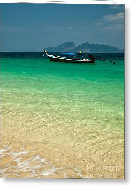 Longboat Greeting Cards - Longboat Asia Greeting Card by Adrian Evans